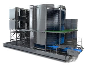 Конвейерная система охлаждения и заморозки